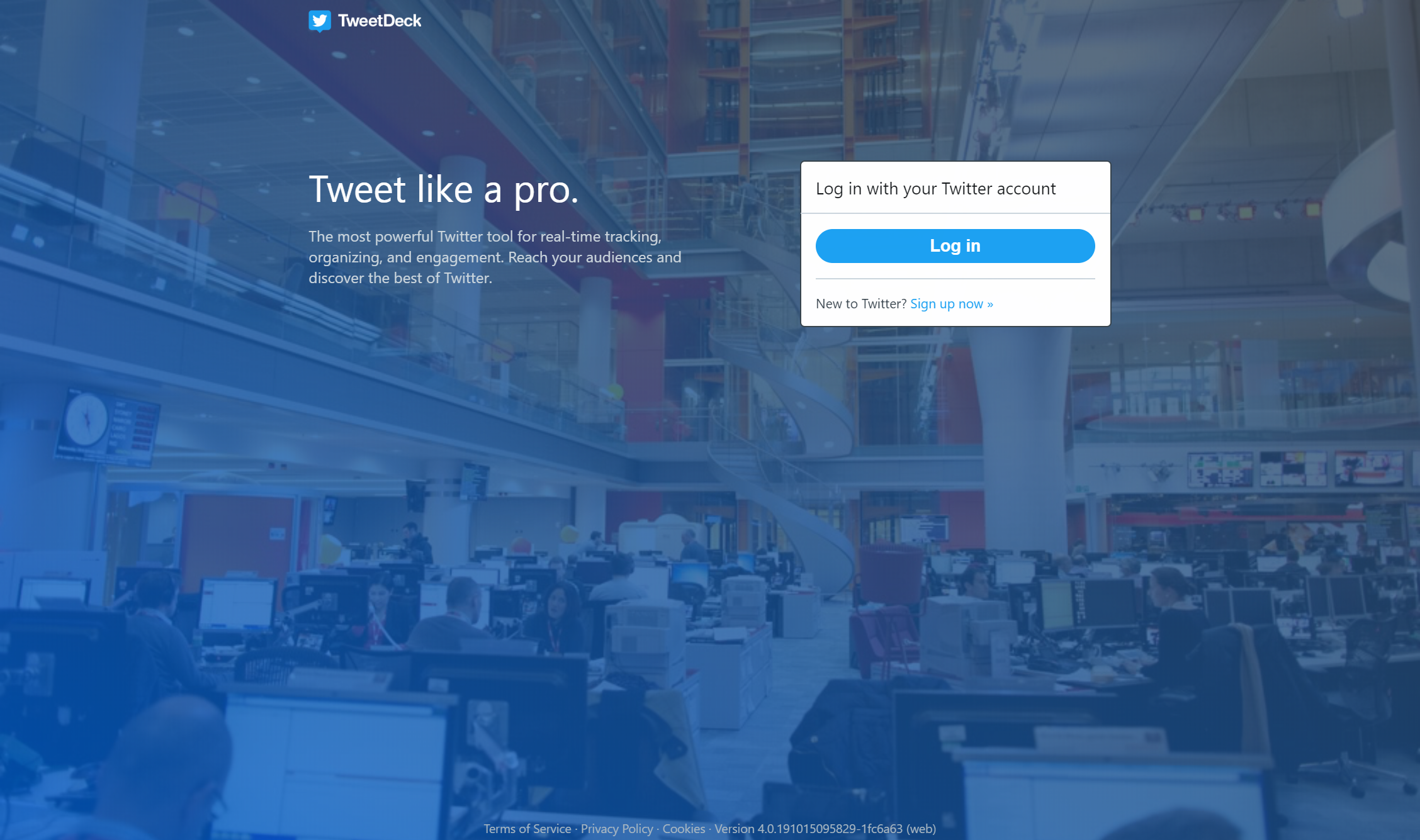 TweetDeckの公式サイトの画像