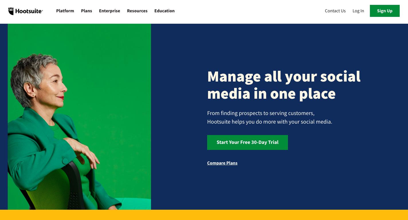 HootSuiteの公式サイトの画像