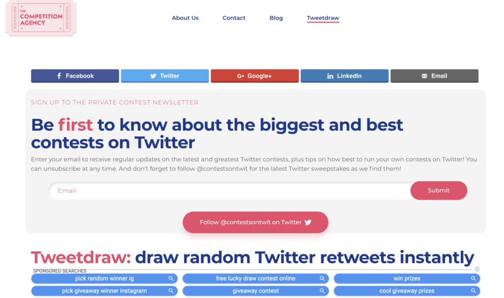 Tweetdrawトップ画面